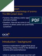 A Level Psychology SM Reicher Haslam Presntation