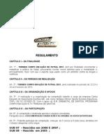 TORNEIO CORPO EM A+ç+âO  DE FUTSAL -  REGULAMENTO