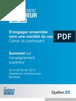 Cahier Du Participant