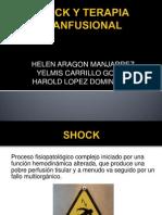 Shock y Terapia Tranfusional Corregida