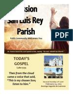 MSLRP Parish Bulletin 02-24-2013