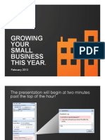Small Business Growth Webinar - Slides