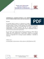 EXPERIENCIAS CONSTRUCCIONISTAS CON ROBÓTICA EDUCATIVA