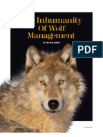 Inhumanity of Wolf Management
