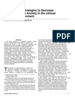 Interventional Strategies to Decrease Nursing Student Anxiety in the Clinical