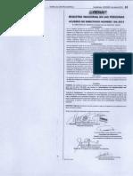 Reforma Reglamento Inscripciones Acuerdo de Directorio 106 2012