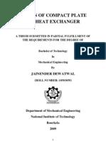 Design of Compact Plate Fin Heat Exchanger