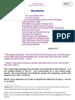 prophecies of the coming christ (3) l rd 16 dec 2001