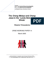 The Orang Melayu and Orang Java in the land below the wind