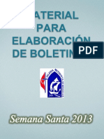 Material Para Boletines Semana Santa 2013