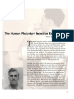 Human Plutonium Injection Experiments