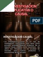 La Investigacion Explicativa o Causal