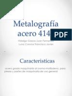 metalografia acero 4140 vespertino