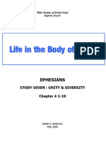 Ephesians Study 7 - Unity & Diversity