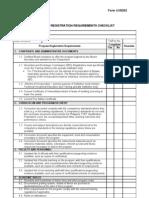 Program Registration Requirements Checklist