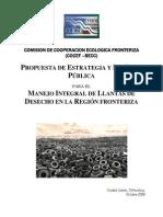 Política Publica para Manejo Integral de Llantas de Desecho en la frontera