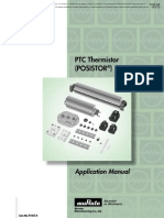 Murata PTC Thermistors POSISTOR Application Manual