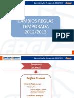 Cambios Reglas Juego Club 2012-2013
