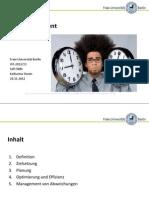 Zeitmanagement präsentation