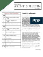 ES Parent Bulletin Vol#12 2013 Feb 22