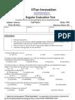 Regular Evaluation Test:Full Test 1 Science 8 A