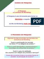 O Processo de Pesquisa de Marketing