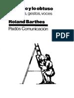 [Roland Barthes] Lo Obvio Y Lo Obtuso
