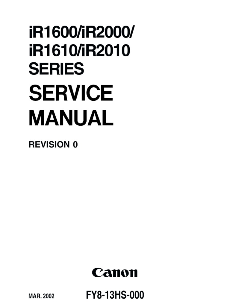 120586957-Canon-IR-1600-1610-2000-2010-Service-Manual | Printed Circuit  Board | Photocopier