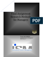 Final Assignment Yann JACOBSEN Research Methods for Managers
