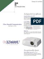 Brochure XD600U