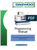 CNC Machining Center Programming Manual