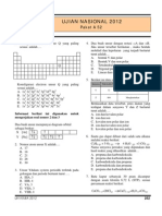 Soal Ujian Nasional Kimia Sma 2012