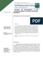 Fast Disintegrating tablet of Amlodipine