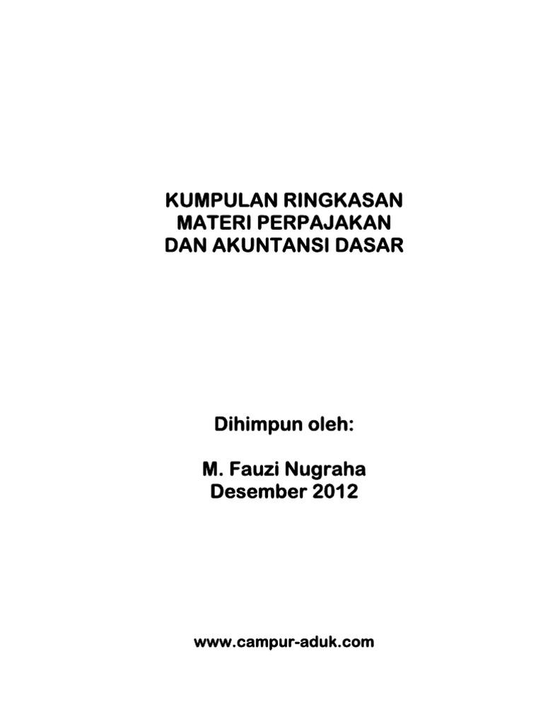 Kumpulan Materi Perpajakan   Akuntansi Dasar 45dede6a56