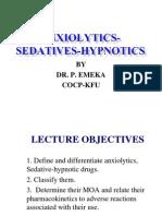 Anxiolytics Sedatives Hypnotics Pharm 3