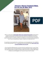Mode Voor 40 Plussers Nieuwe Sandwich Mode Vrouw 40 Jaar en Meer 2013