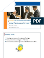 Using Maintenance Strategy Plans
