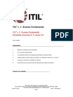 Test Blanc ITIL V3 Officiel