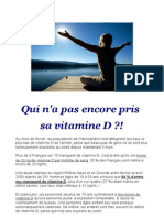 Information Importante sur la vitamine D3