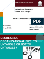 DECREASING ORGANIZATIONAL SIZE