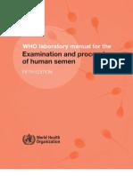 Semen Analysis WHO standard