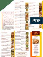 Il Menu Con Calorie  di Fritto Mania (ristorazione Take Away)