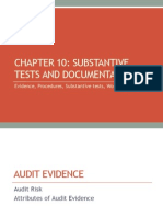 Chapter 10 Evidence Substantive Tests