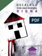 Decálogo por una vivienda digna de @attacmadrid