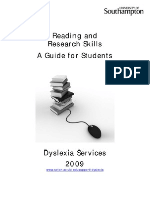 Reading and Research Skills 2009 | Speed Reading | Reading