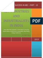 The Key to Success in KBC - Part 13 - Key Industries and Industrialists in India