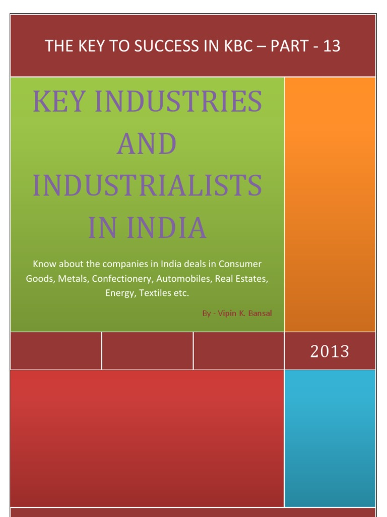 The Key to Success in KBC - Part 13 - Key Industries and