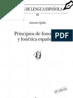 Principios de Fonetica y Fonologia Espanolas Quilis