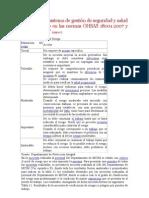 Diseño de un sistema de gestión de seguridad y salud laboral basado en las normas OHSAS 18001