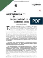 La Jornada_ Las Aspiraciones a La Imparcialidad en Una Sociedad Justa
